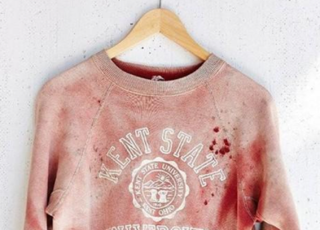 Urban Outfitter in hot water over 'blood-stained' Kent State University sweatshirt