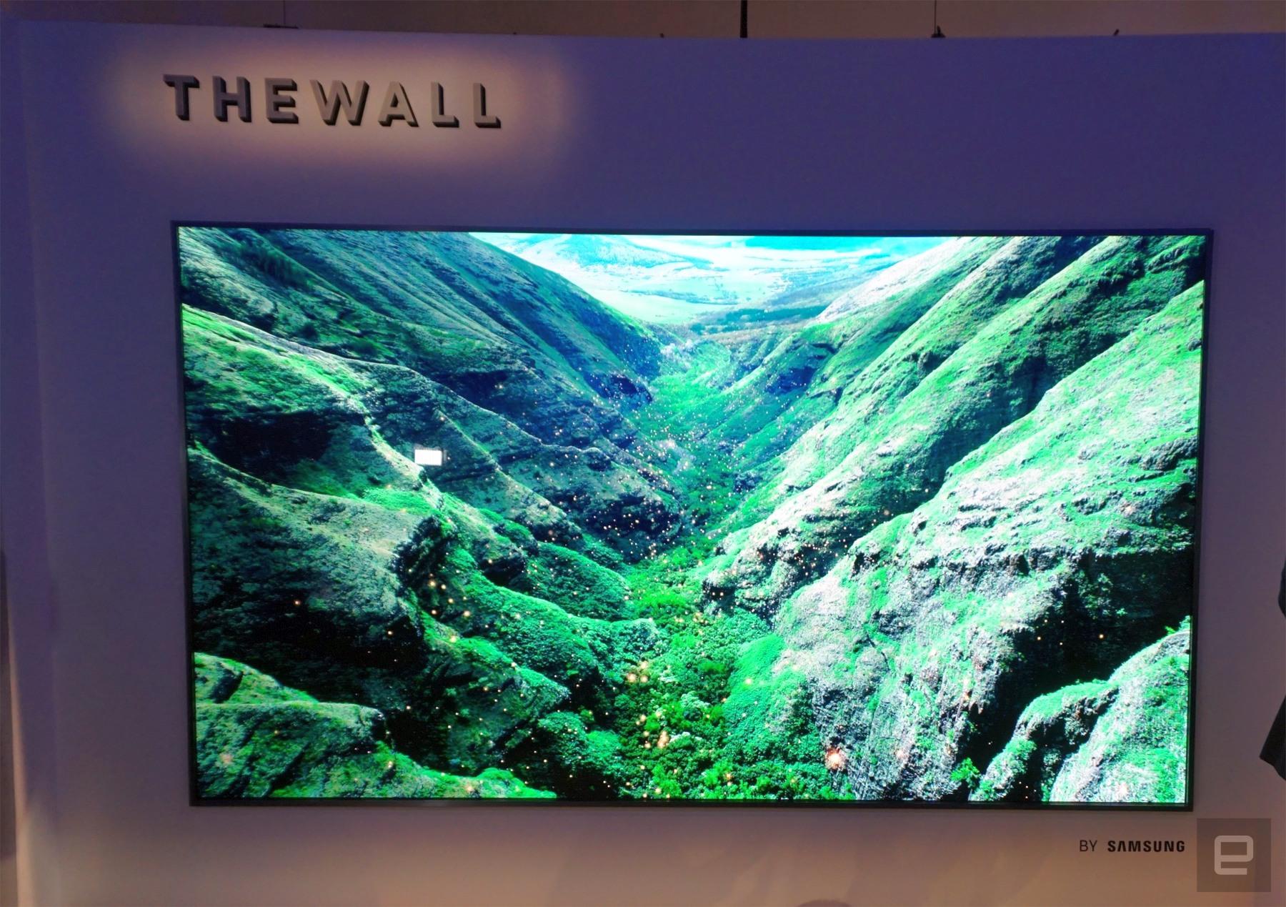 """Samsung quiere montar una TV modular de 146"""" en la pared de tu casa"""