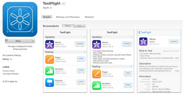 Apple relaunches iTunes Connect and introduces Test Flight app ahead of Sept 9 event