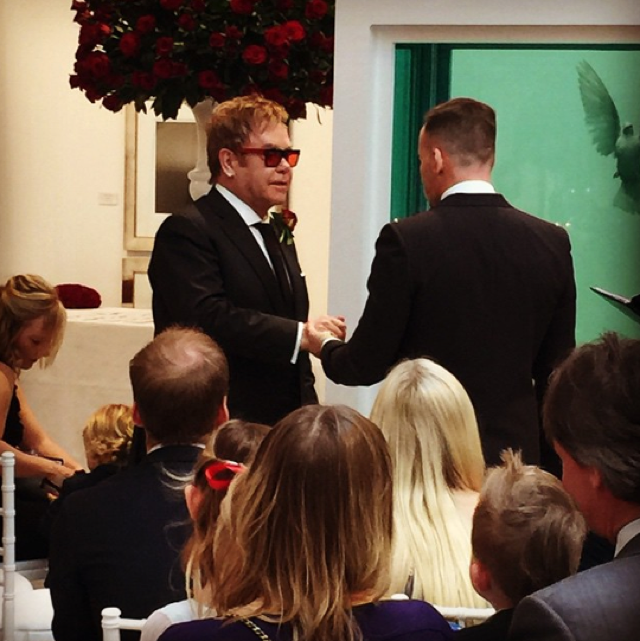 Elton John marries David Furnish in star-studded ceremony
