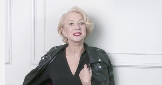Helen Mirren rocks leather jacket in new L'Oreal Paris ad