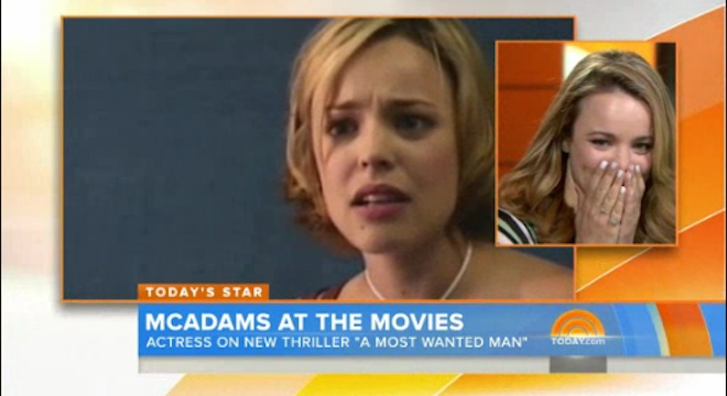 rachel mcadams notebook audition Matt Lauer Made Rachel McAdams Watch Her The Notebook Audition Tape and It Was Kinda Awkward (VIDEO)