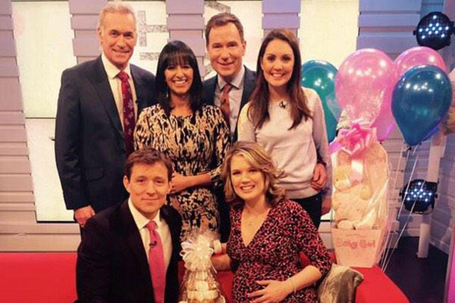 Charlotte Hawkins pregnancy time lapse video