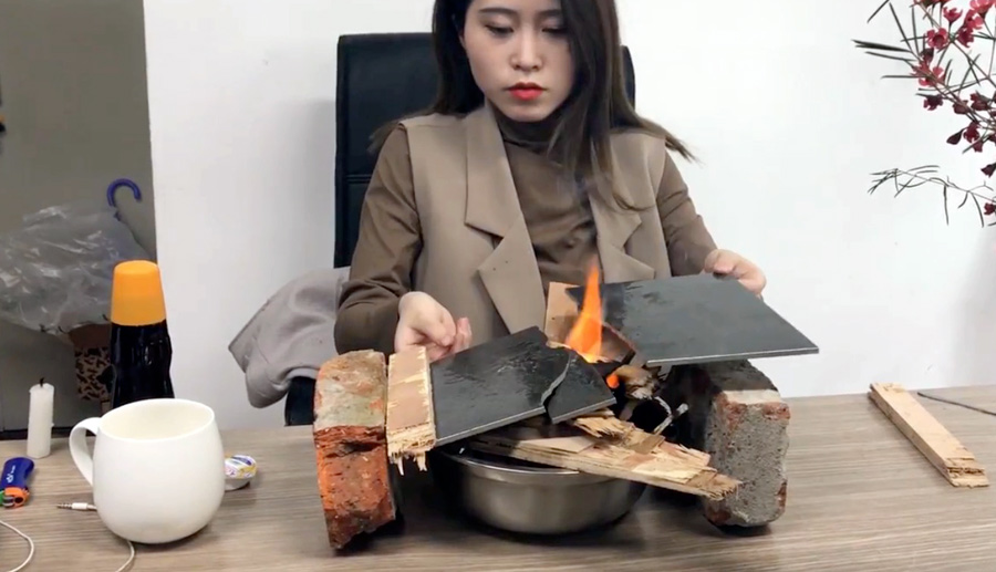 Office Ono: Kochen mit Büromaterial