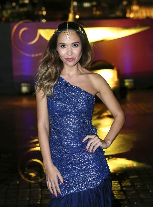Myleene Klass glitters in sequin dress for Littlewoods Christmas Wishes campaign