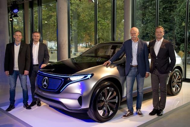 メルセデス・ベンツ、完全電気自動車「ジェネレーションEQ」の市販モデルを2020年までに発売予定