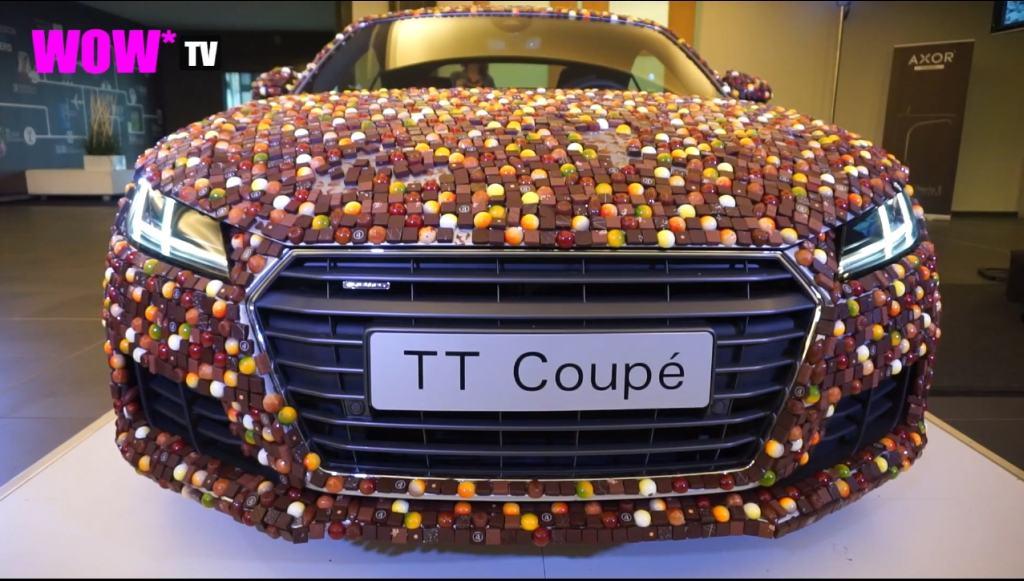 Audi TT, Audi TT Coupé, Humor, funny, witzig, Praline. Audi aus schokoloade