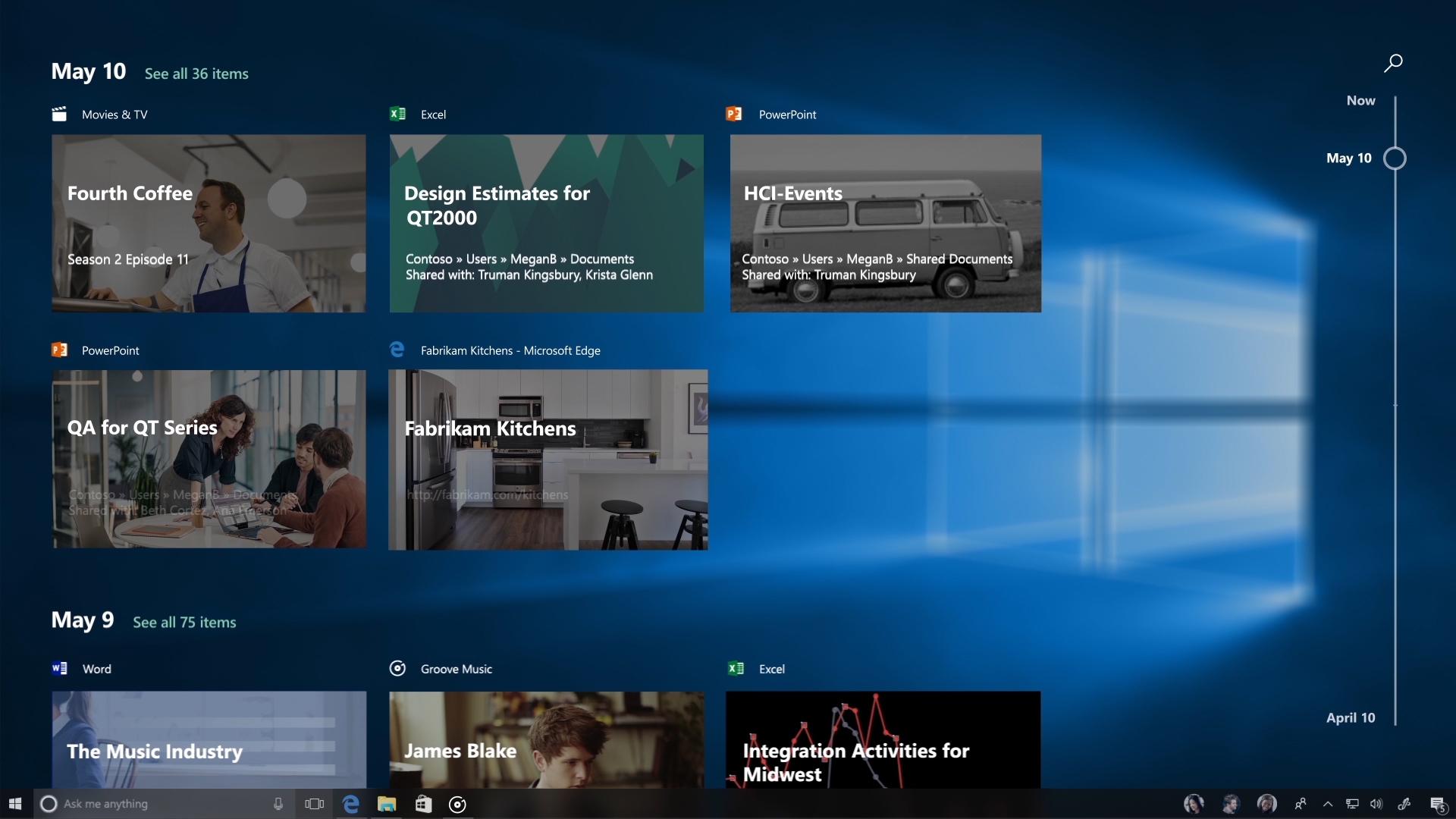 Windows 10 Timeline recuerda todo lo que hiciste con tu PC