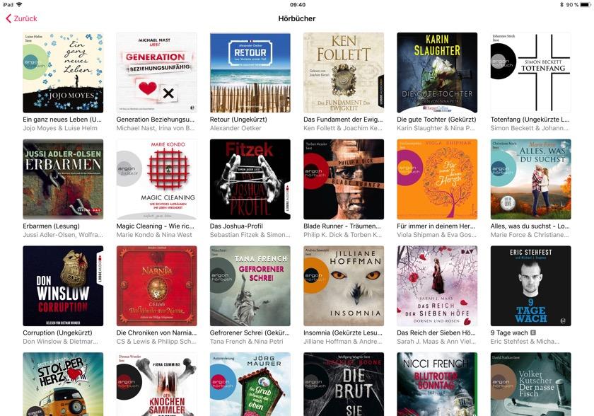 Apple Music: Neuer Fokus auf Hörbüchern
