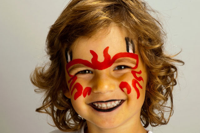 Halloween face painting tutorial: Devil