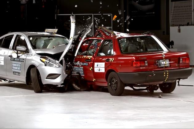 【ビデオ】20年間で自動車の安全性能がどれだけ進歩したか、よく分かる衝突試験映像