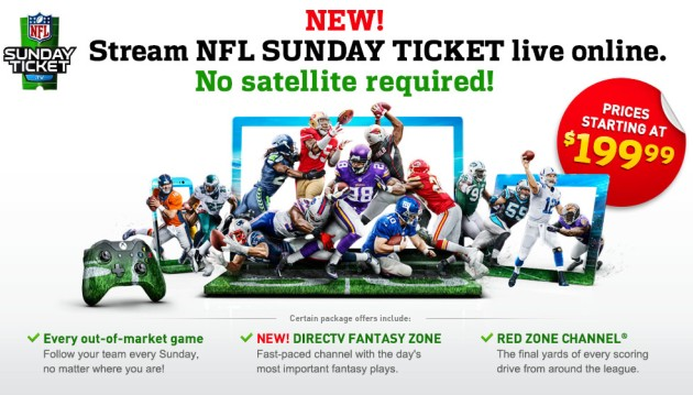 NFL Sunday Ticket stays on DirecTV for the next eight years