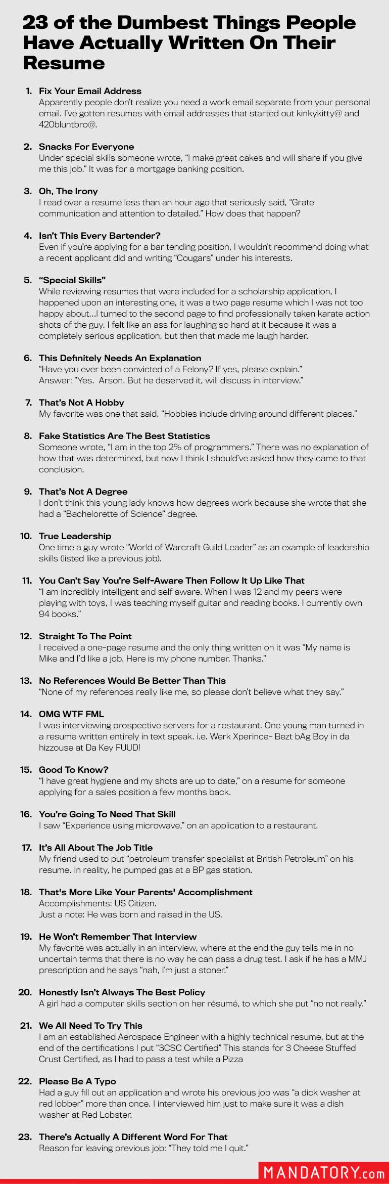 23 of the Dumbest Things People