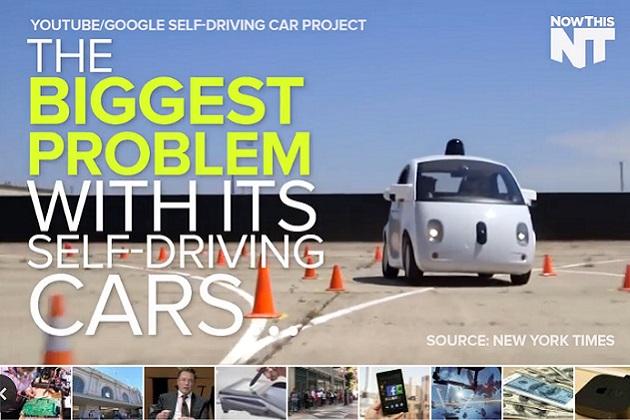 【ビデオ】グーグルの自動運転車はもっとアグレッシブな運転を目指すべき?
