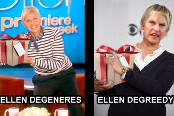 celebrity name puns, celebrity opposite names, ellen degeneres degreedy