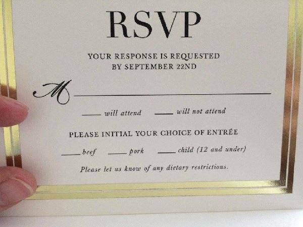 結婚式の招待状に書かれていたヒドすぎるメインディッシュが話題に