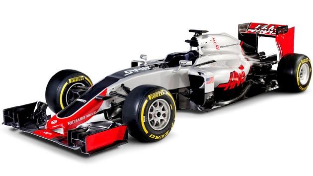 今年からF1に参戦するハースF1チーム、最初のマシンを発表