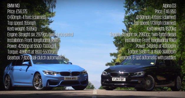【ビデオ】BMW「M3」と「アルビナD3」が対決! ガソリンとディーゼル、どっちがいい?