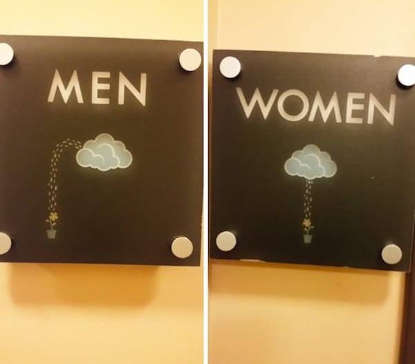 Hilarious Bathroom Signs