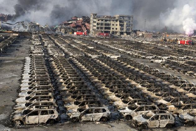 中国天津での爆発事故を受け、トヨタが現地工場を22日まで操業停止に