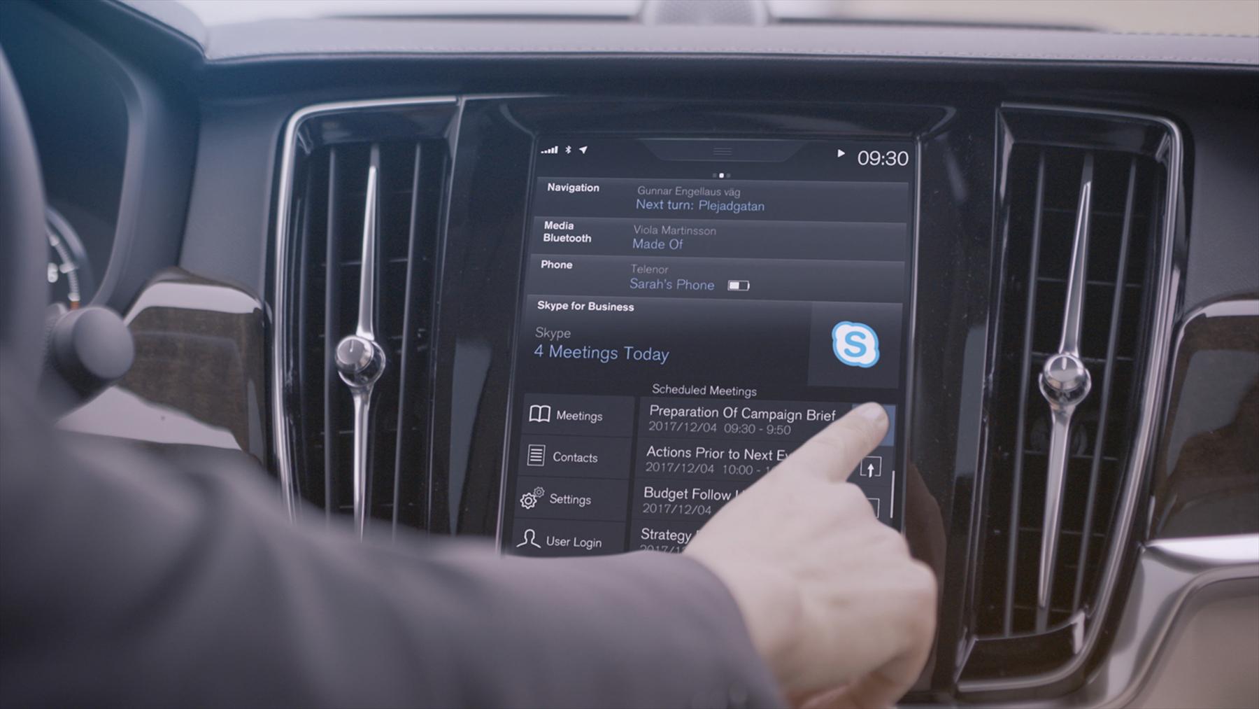 Los Volvo Serie 90 llevarán Skype integrado