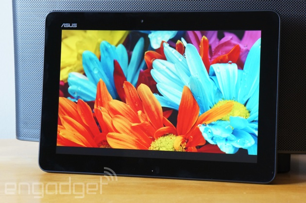 ASUS Transformer Pad TF103C showing a purty picture