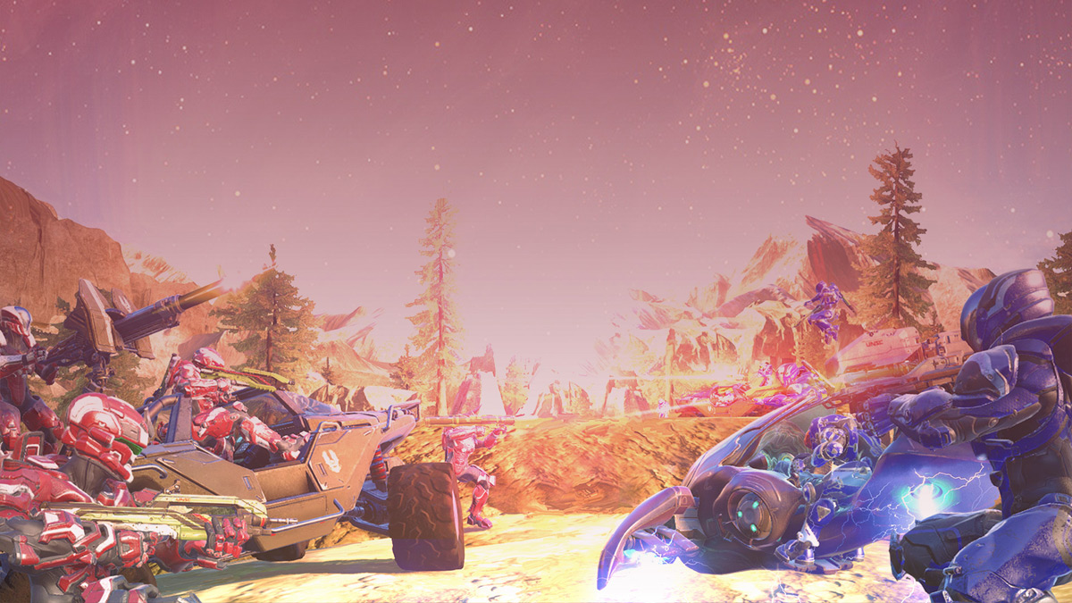 The first big 'Halo 5' update brings 16-player vehicle battles