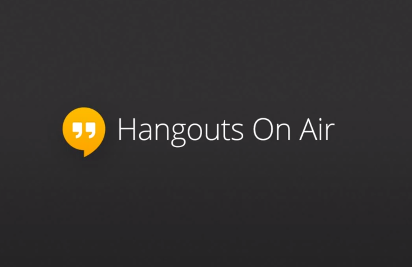 how to start google hangout on air