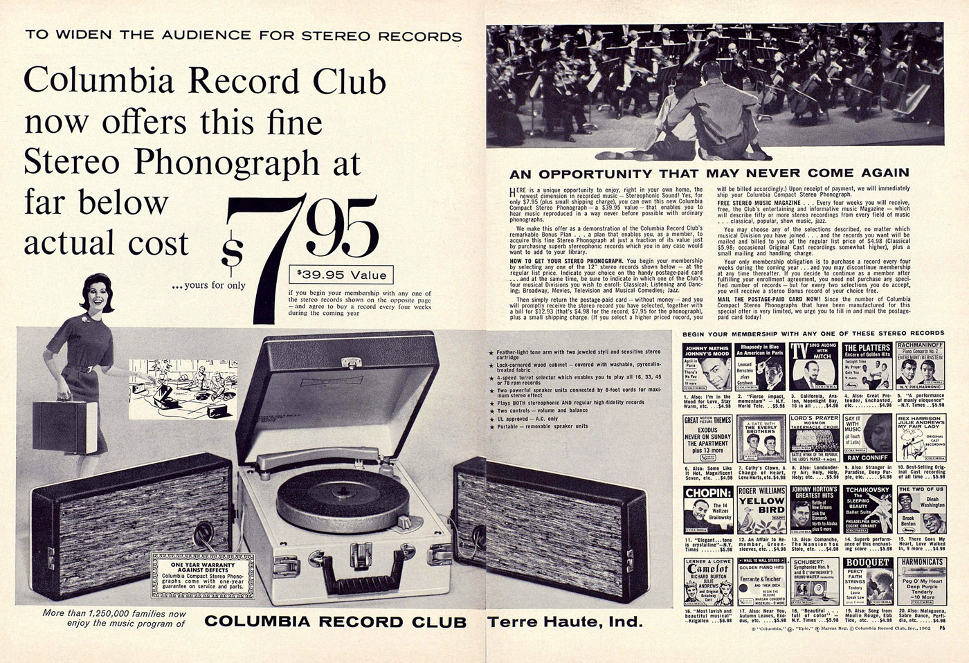 Columbia House hopes you'll come back for vinyl records