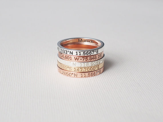 Coordinates ring on Etsy by Anne Coordinates