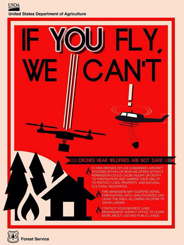 Drones hindered firefighting efforts in California