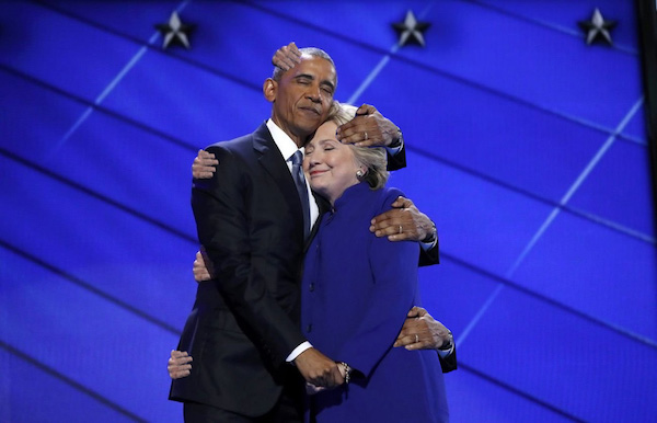 That Hug Obama Gave Hillary Clinton Got Photoshopped In The Name Of America