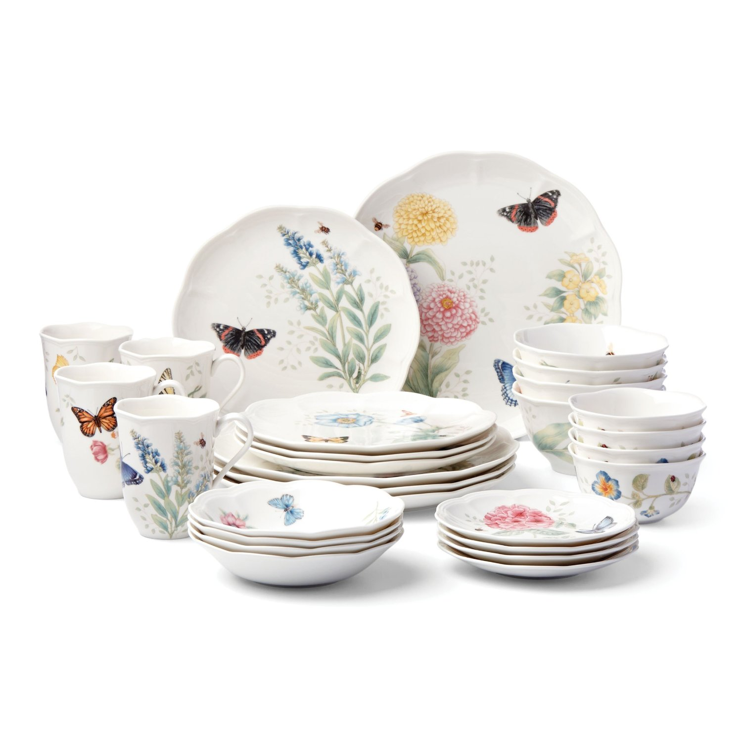 Lenox 28-Piece Butterfly Meadow Classic Dinnerware Set