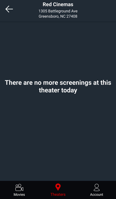 MoviePass outage on July 30th, 2018