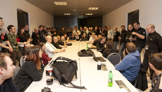This CCP Fanfest roundtable is more of a rectangular table