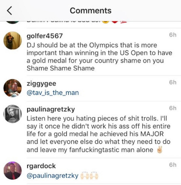 Paulina Gretzky Goes Off On Haters After They Troll Husband Dustin Johnson For Skipping Olympics