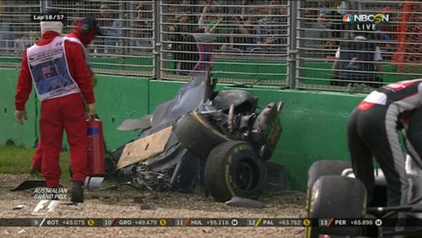 Fernando Alonso Australian Grand Prix crash