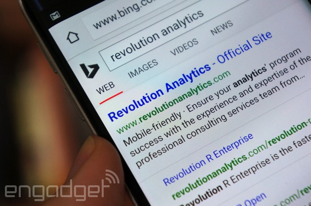 Bing points out a mobile-friendly website