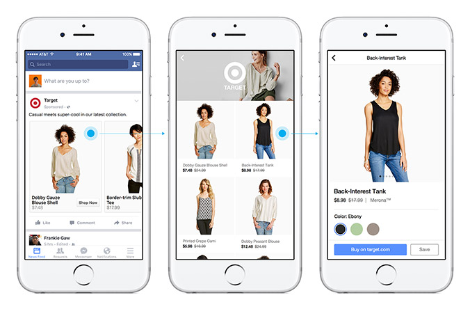 Facebook tests Shopping feed and immersive ads for in-app purchases
