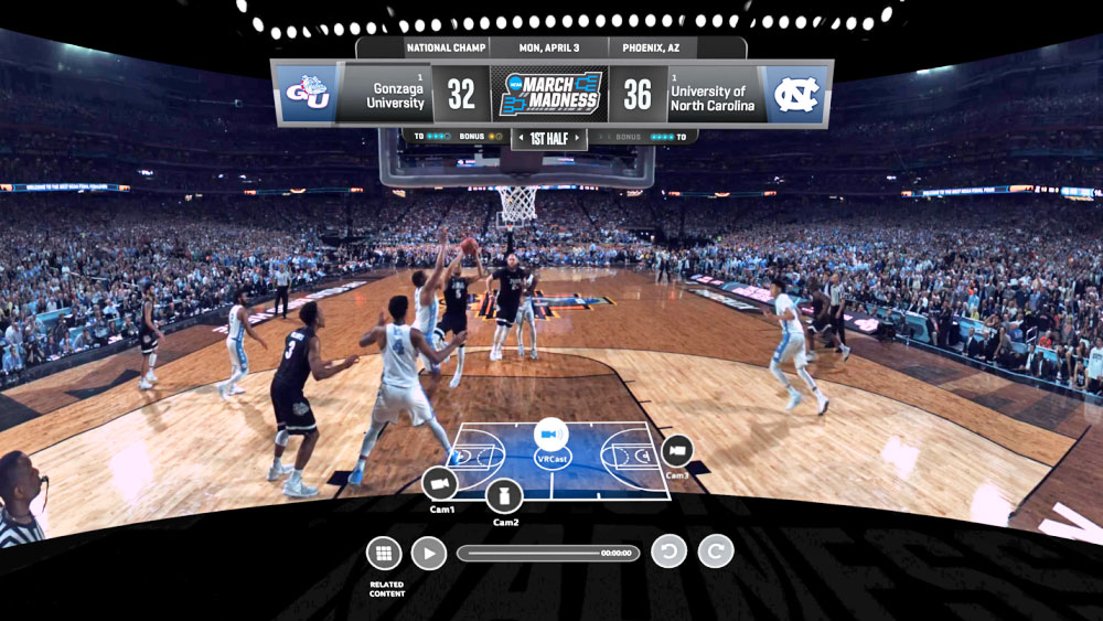 photo image Put March Madness on your face with $3 VR livestreams