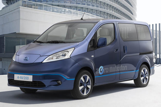 nissan touts e nv200 as electric vip transport. Black Bedroom Furniture Sets. Home Design Ideas