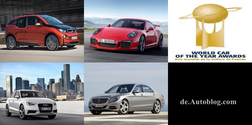 World car of the Year, Audi A3, Porsche 911, BMW i3, New York auto Show, world car of the year 2014