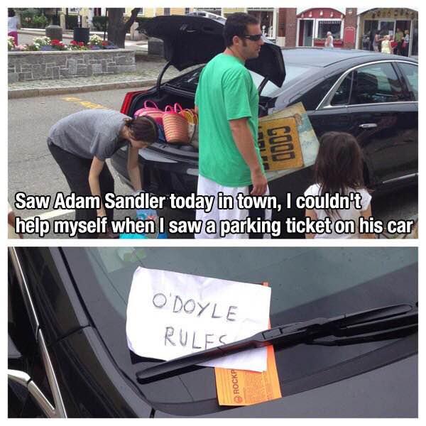 adam sandler parking ticket odoyle rules