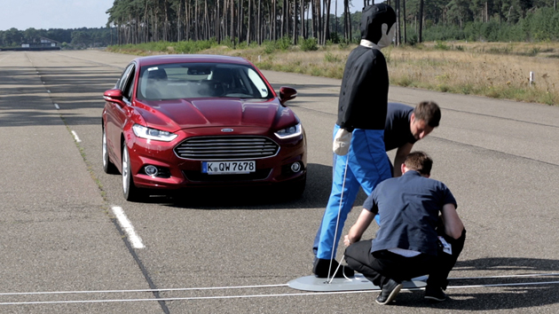 Ford's Pre-Collision Assist in testing