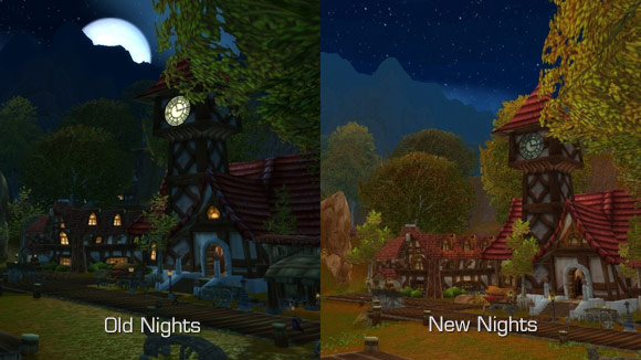 Night time comparison
