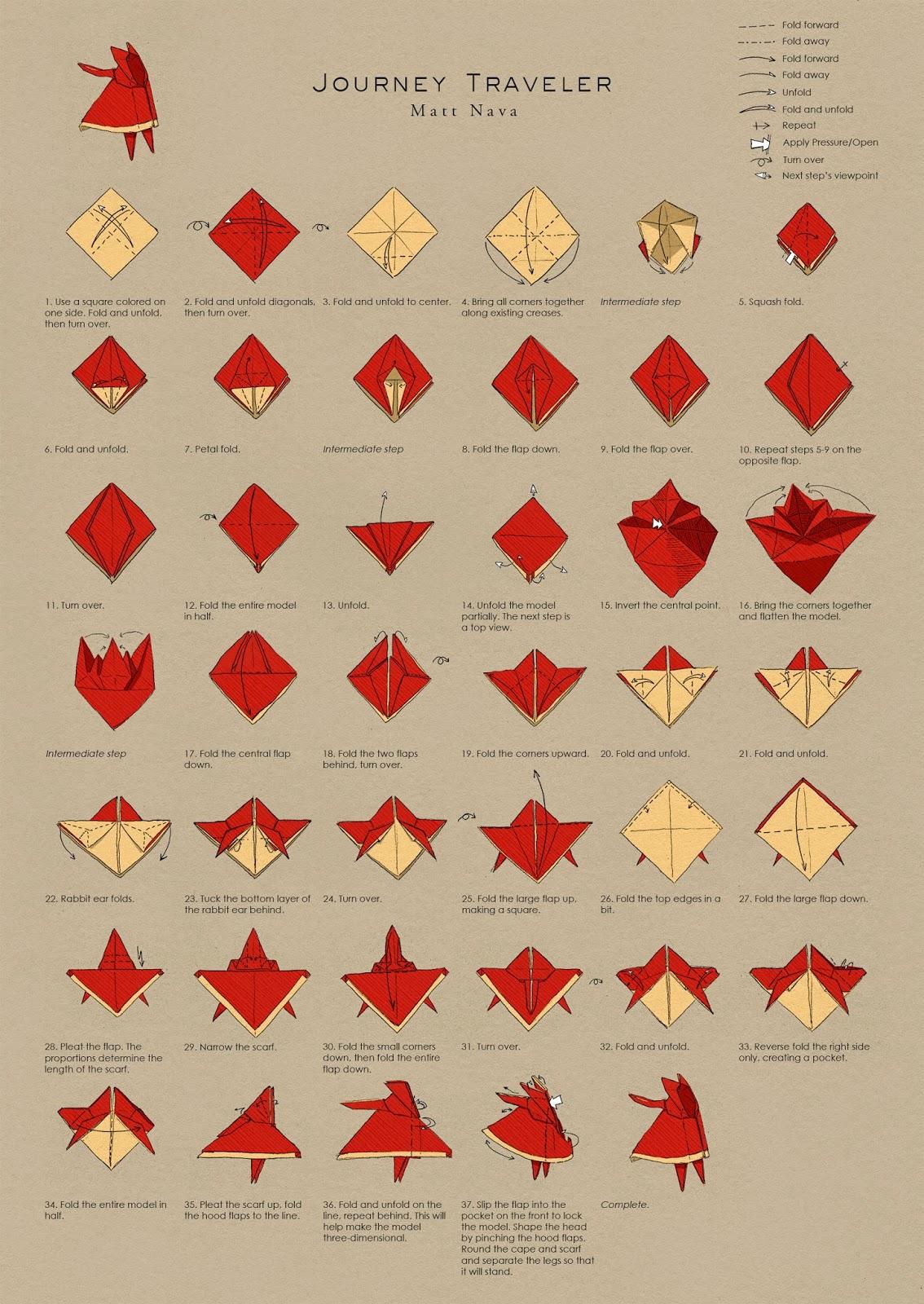 すべての折り紙 折り紙 くり : Journey Traveler Origami