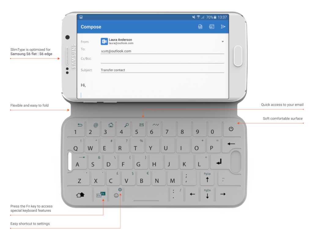 SlimType: NFC-Keyboard für Samsung Galaxy S6