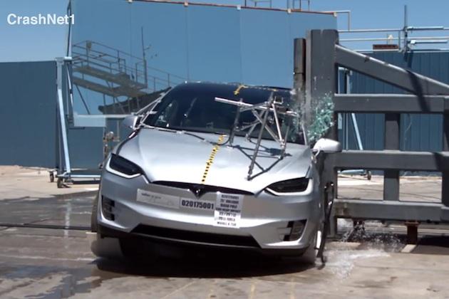 【ビデオ】テスラ「モデルX」、SUVで初めて米国道路交通安全局の衝突安全テスト全項目で最高評価を獲得
