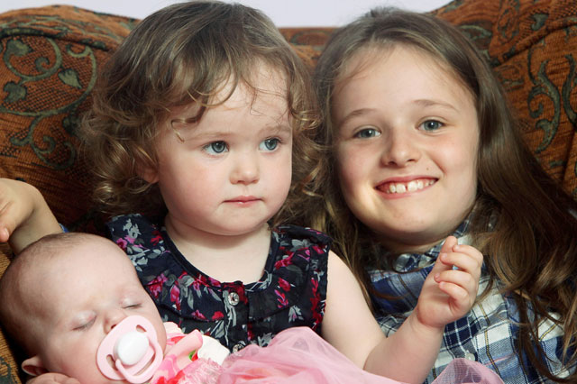 Girl, 9, delivers a baby sister - for the second time!
