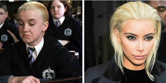 Kim Kardashian Draco Malfoy meme